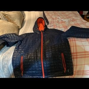 Land's End Navy down puffer coat. Great condition.